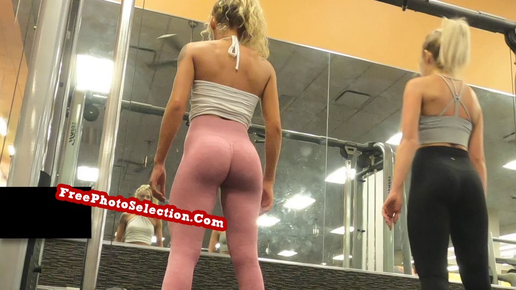 Fit girl's ass looks like it is sculpted from marble